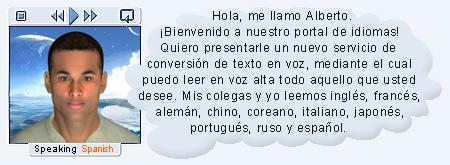 Spanish Text-to-Speech service